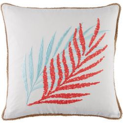 Red Pineapple Summer Flamingo Coral Leaf Decorative Pillow