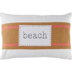 Red Pineapple Beach Banded Decorative Pillow