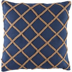 Red Pineapple Rope Trim Decorative Pillow
