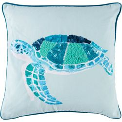 Coastal Home Fanta Sea Turtle Decorative Pillow