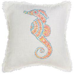 Red Pineapple Caspian Seahorse Decorative Pillow