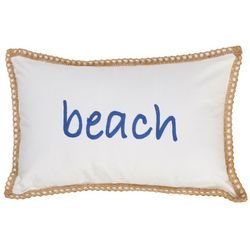 Coastal Home Hallie Beach Crewel Decorative Pillow