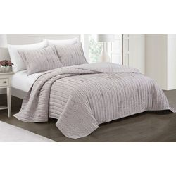 Elise & James Home Rylie Frayed Ruffle Quilt Set