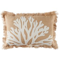 Coastal Home Seaside Beauty Coral Decorative Pillow