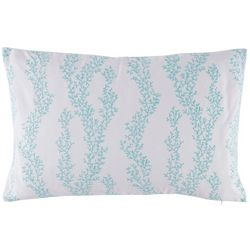 Red Pineapple Aqua Haze Coral Trellis Decorrative Pillow