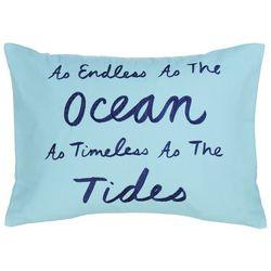 Coastal Home Endless Ocean Decorative Pillow