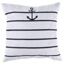 Red Pineapple Cabana Script Anchor Stripe Decorative Pillow