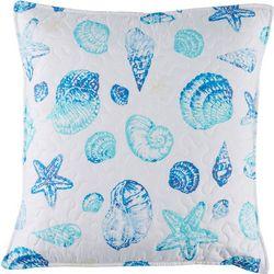 Coastal Home Kiki Shells Quilted Decorative Pillow