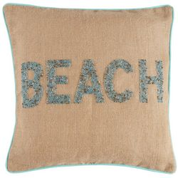 Tackle & Tides Cabana Stripe Beaded Beach Decorative Pillow