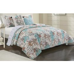 Red Pineapple Vera Jungle Quilt Set