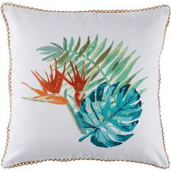 Red Pineapple Jesse Leaves Decorative Pillow