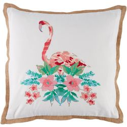 Red Pineapple Flamingo Paradise Decorative Pillow