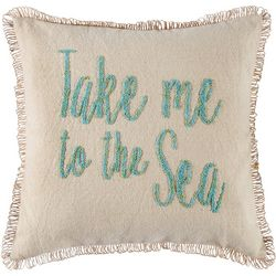 Red Pineapple Underwater Seascape Take Me To The Sea Pillow