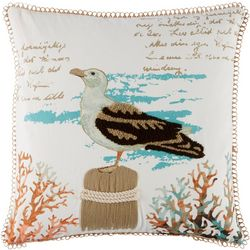 Coastal Home Everly Seagully Decorative Pillow