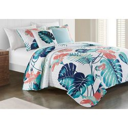 Red Pineapple Selena Quilt Set