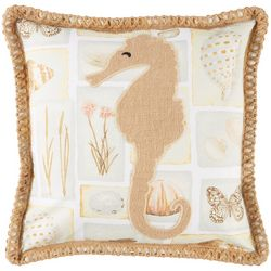 Coastal Home Brendie Seahorse Decorative Pillow