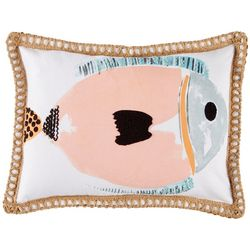 Red Pineapple Wally Fish Decorative Pillow
