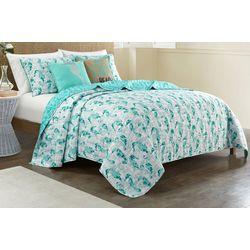 Coastal Home Jackie Seahorse Quilt Set