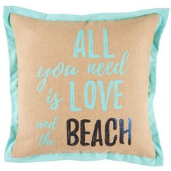 Coastal Home Jackie Seahorse Love Beach Decorative Pillow