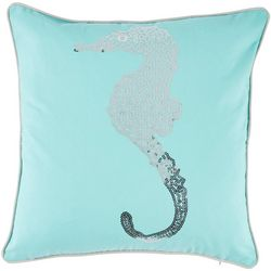 Coastal Home Jackie Seahorse Syra Decorative Pillow