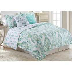 Red Pineapple Discovery Bay Quilt Set