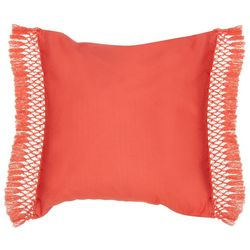Red Pineapple Savannah Wylie Coral Decorative Pillow