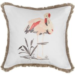Red Pineapple Savannah Flamingo Decorative Pillow