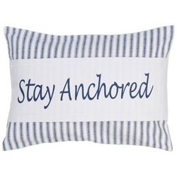 Tackle & Tides Anchor Stripe Stay Anchored Decorative Pillow