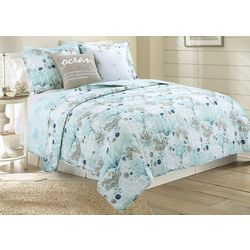 Coastal Home Sparkle Sea Quilt Set