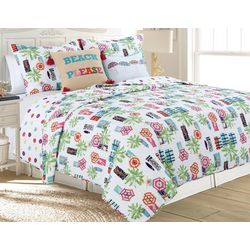 Red Pineapple Sunny Quilt Set