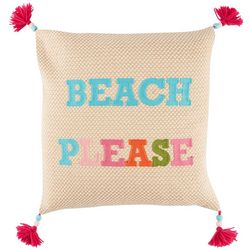 Red Pineapple Sunny Beach Please Decorative Pillow