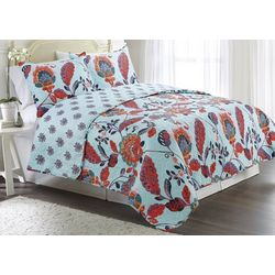 Elise & James Home Mitra Peacock Quilt Set