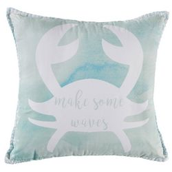 Elise & James Home Make Waves Crab Decorative Pillow