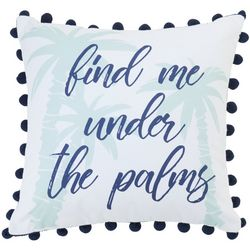 Elise & James Home Find Me Under The Palms Decorative Pillow