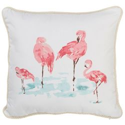 Red Pineapple Flamingo Pack Decorative Pillow