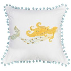 Red Pineapple Mermaid Decorative Pillow
