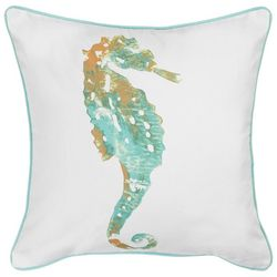 Red Pineapple Sanders Seahorse Decorative Pillow