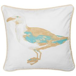 Red Pineapple Sea Bird Decorative Pillow