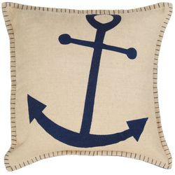 Red Pineapple Anchor Decorative Pillow