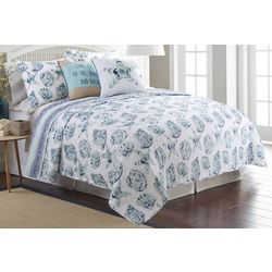Red Pineapple Marlow Coast Quilt Set
