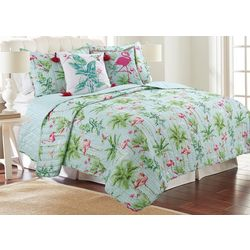 Coastal Home Lauren Flamingo Quilt Set
