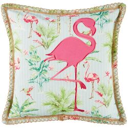 Coastal Home Lauren Flamingo Decorative Pillow
