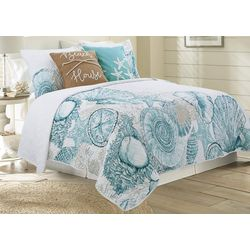 Coastal Home Brushed Ashore Quilt Set