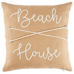 Coastal Home Brushed Ashore Beach House Decorative Pillow