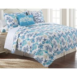 Coastal Home Seahorse Sea Quilt Set