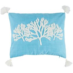 Coastal Home Seahorse Sea Coral Decorative Pillow
