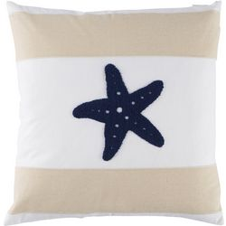 Tackle & Tides Cabana Stripe Starfish Decorative Pillow