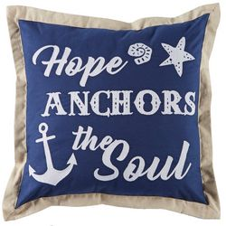Tackle & Tides Hope Anchors The Soul Decorative Pillow