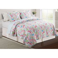 Red Pineapple Livia Sea Life Quilt Set