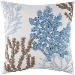 Coastal Home Shell Postcard Rebecca Decorative Pillow